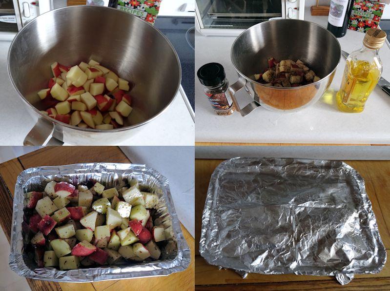 Grilled Potato Cubes