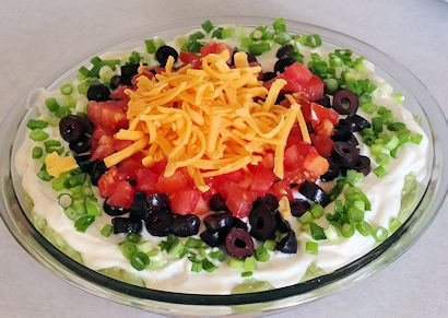 Multilayered Mexican Dip