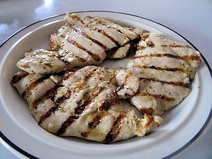 Grilled Chicken Scallopini at oldfatguy.ca