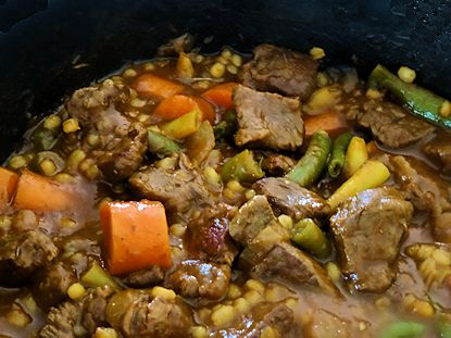 Beef Barley Stew, Made With Moose