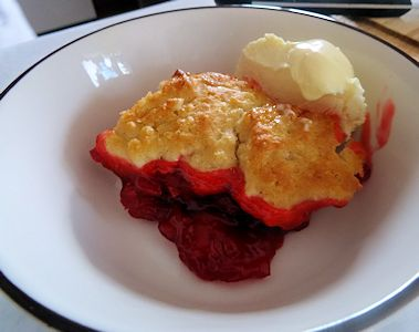 Cherry Cobbler at oldfatguy.ca