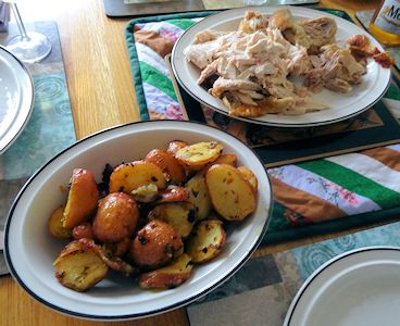 Piri Piri Chicken and Greek Potatoes at oldfatguy.ca