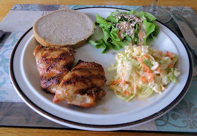 Quick Grilled Chicken Thighs 4