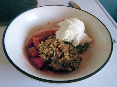 Strawberry Rhubarb Crisp at oldfatguy.ca