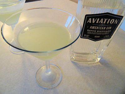 Aviation Gin Gimlet at oldfatguy.ca