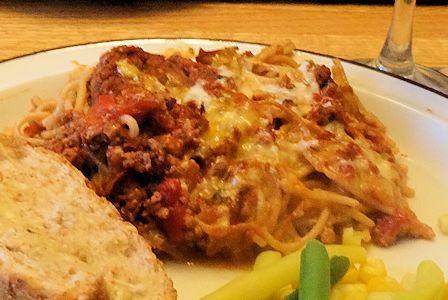 Baked Spaghetti at oldfatguy.ca