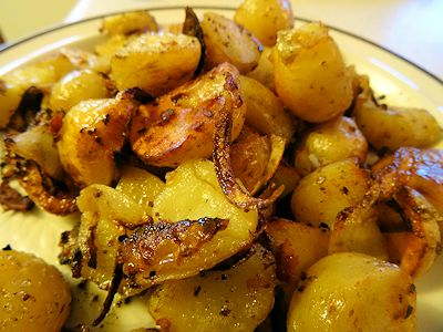 Grilled Home Fries at oldfatguy.ca