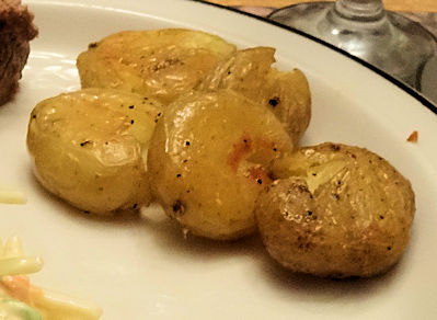 Crispy Crushed Potatoes at oldfatguy.ca