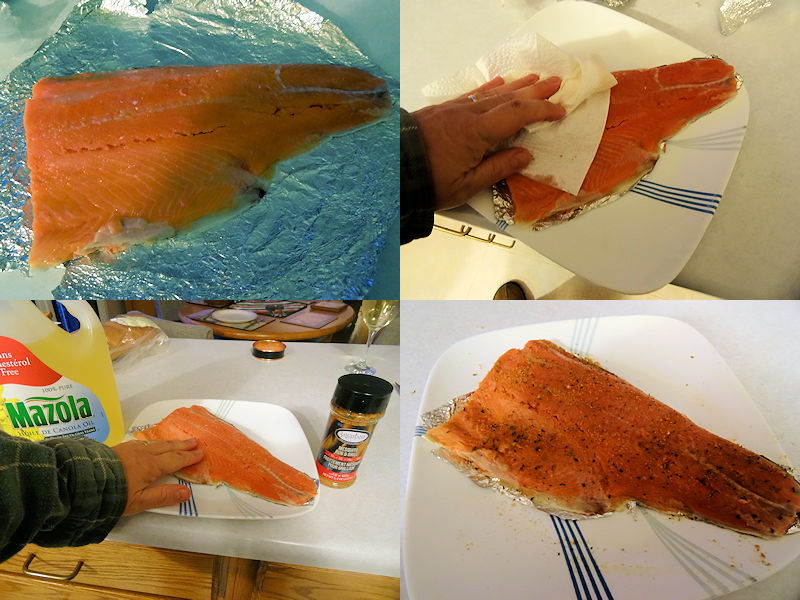 Salmon in the Smoker