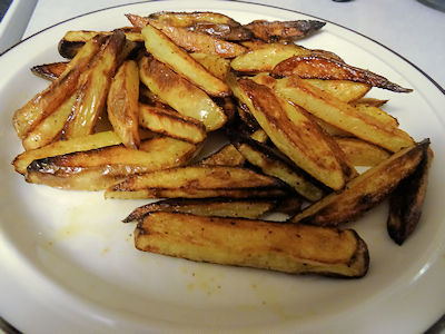 Hickory Bacon Oven Fried Potatoes at oldfatguy.ca