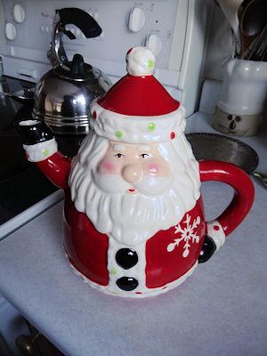 Santa Teapot