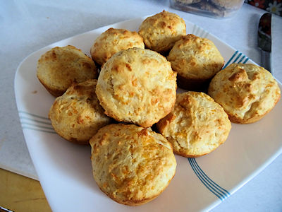 Sourdough  Cheese Muffins at oldfatguy.ca