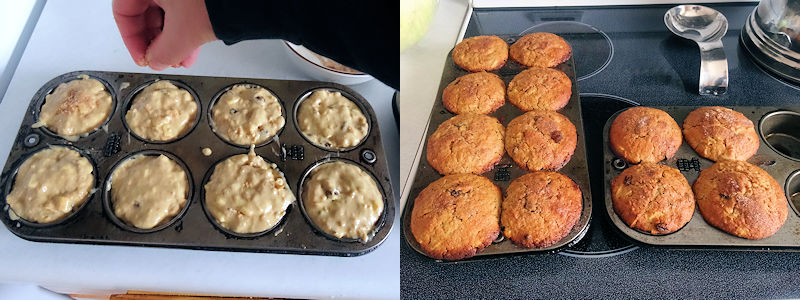 Sourdough Harvest Apple Muffins 3