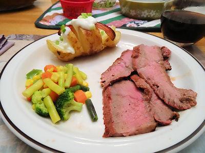 Steak and Potatoes at oldfatguy.ca