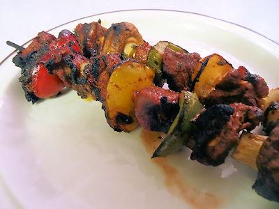 Peruvian Kebabs at oldfatguy.ca