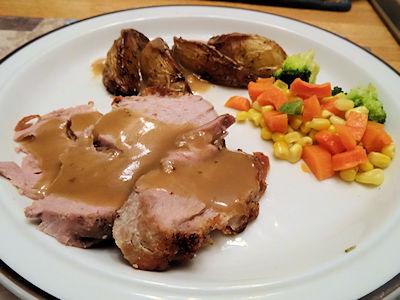 Pork and Roast Potatoes at oldfatguy.ca