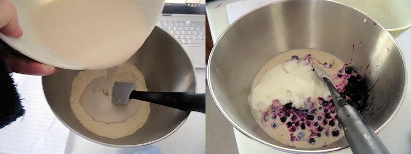 Sourdough Blueberry Cornmeal Muffins 2