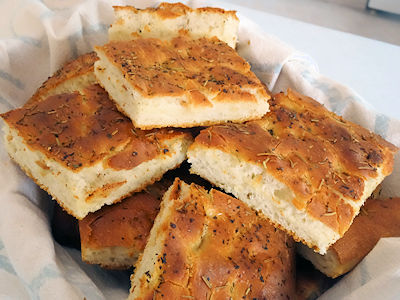 Garlic Focaccia at oldfatguy.ca