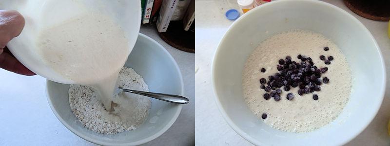 Sourdough Oatmeal Blueberry Pancakes 2
