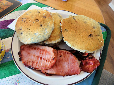 Sourdough Oatmeal Blueberry Pancakes 4