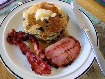 Sourdough Oatmeal Blueberry Pancakes 5
