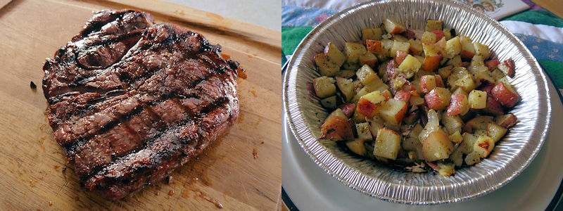 Grilled Steak and Potatoes 4