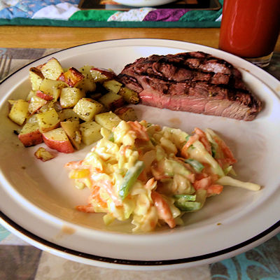 Grilled Steak and Potatoes 6