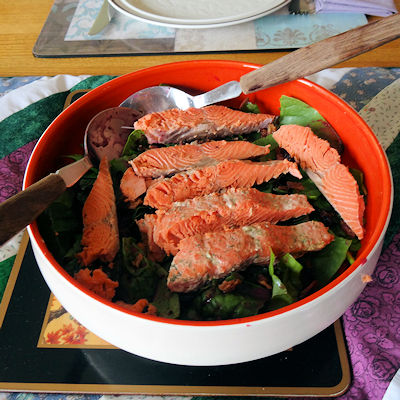 Seafood Salad With Blueberry Vinaigrette IN