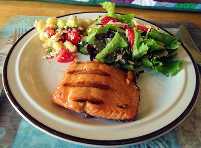 Maple Glazed Salmon at oldfatguy.ca