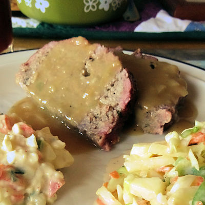 Meatloaf and Gravy at oldfatguy.ca