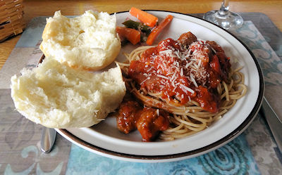 Miniball Spaghetti at oldfatguy.ca
