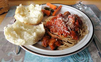 Miniball Spaghetti at oldfatguy.ca