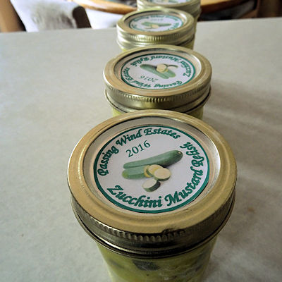 Zucchini Mustard Relish at oldfatguy.ca