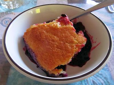 Haskap Pudding Cake at oldfatguy.ca