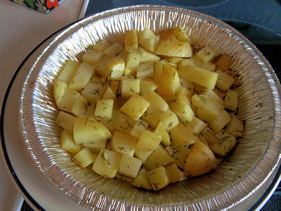 Summer Potatoes at oldfatguy.ca