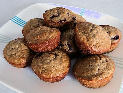 Oatmeal Haskap (Blueberry) Muffins