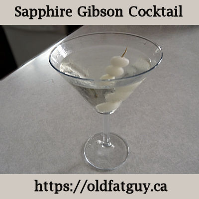 Sapphire Gibson Cocktail
