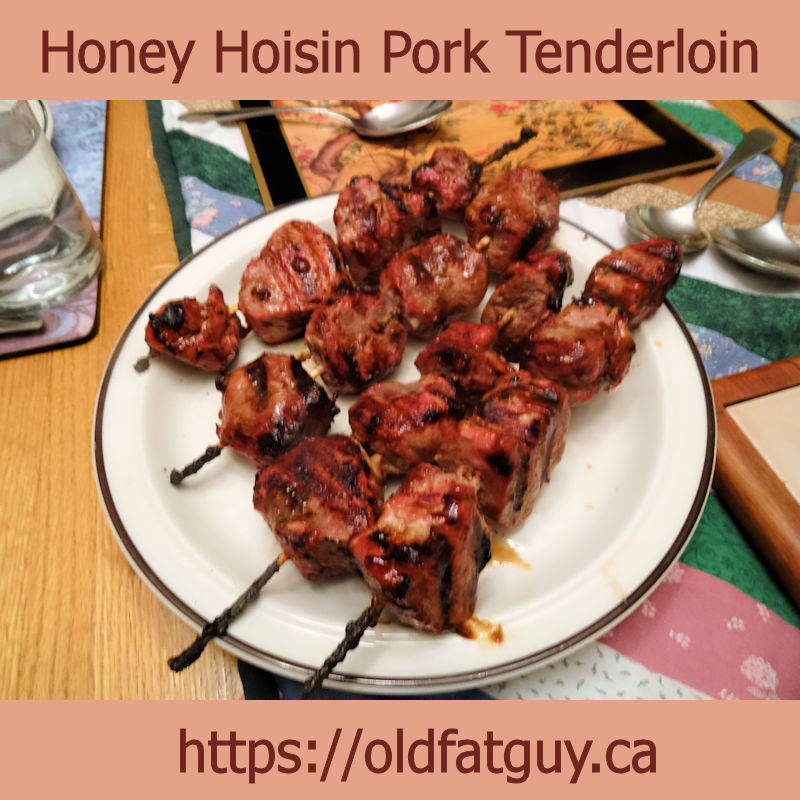 Honey Hoisin Pork Tenderloin Brochettes