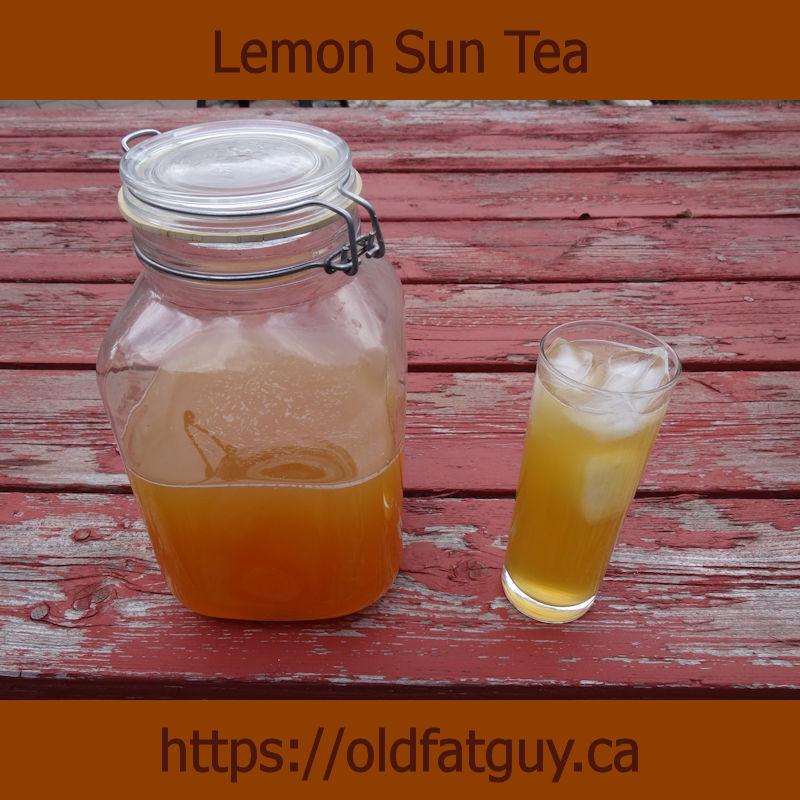 Lemon Sun Tea