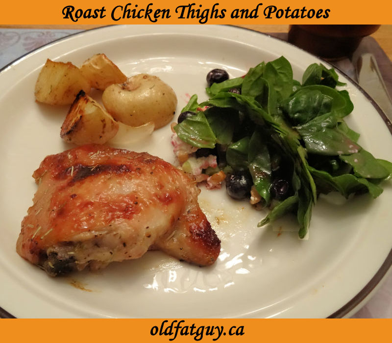 Roast Chicken Thighs and Potatoes