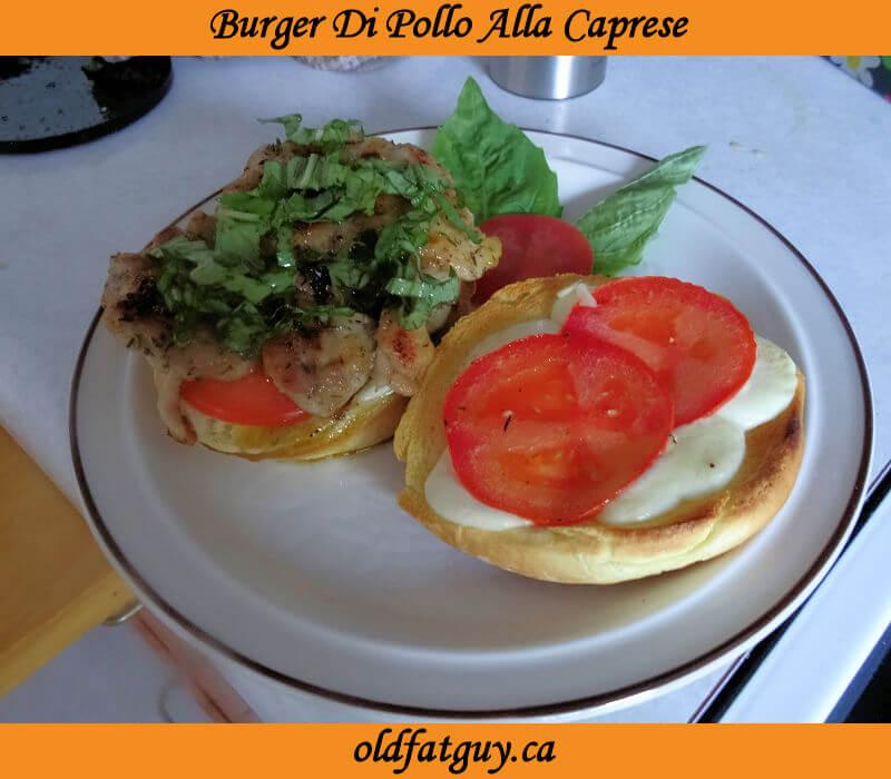 Burger Di Pollo Alla Caprese