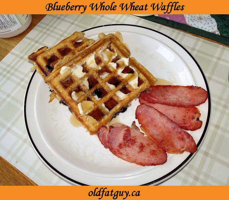 Blueberry Whole Wheat Waffles