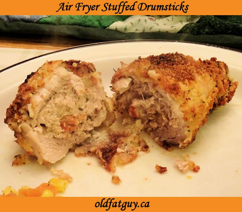 Air Fryer Stuffed Drumsticks